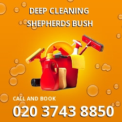 Shepherds Bush commercial deep cleaning around W12