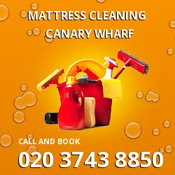 Canary Wharf mattress cleaning E14