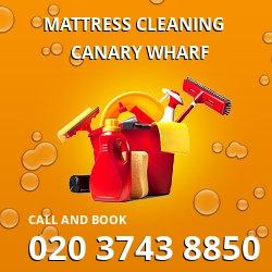 Canary Wharf mattress cleaning E14